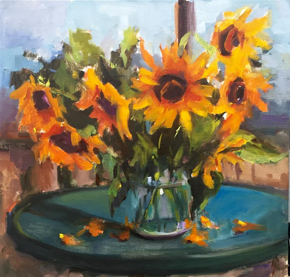 """Canadian Sunflowers"" original fine art by Laurie Johnson Lepkowska"