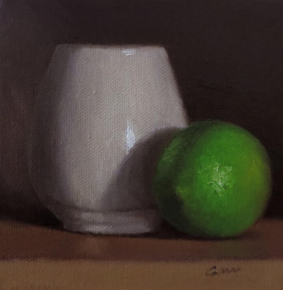 """Teacup & Lime"" original fine art by Michelle Garro"