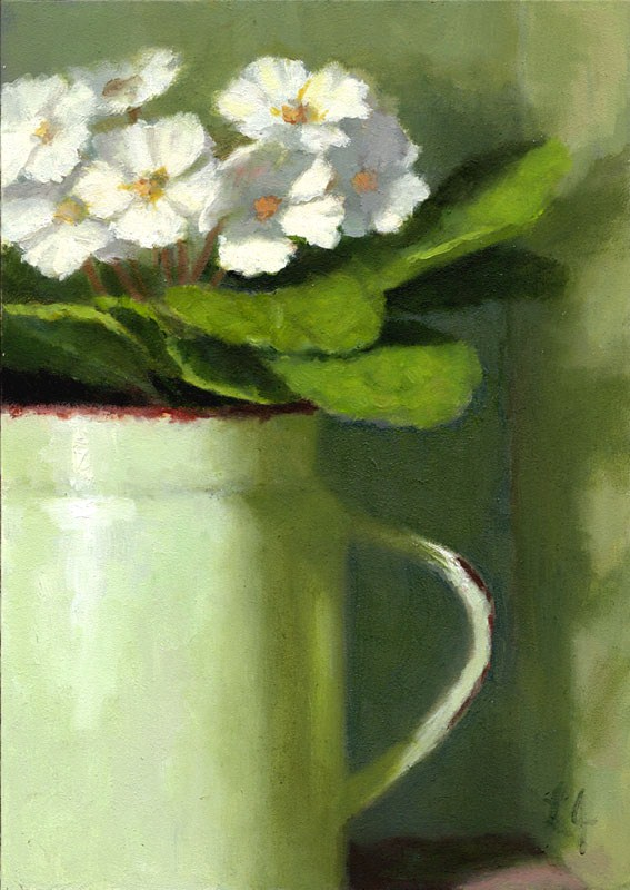 """African Violets"" original fine art by Linda Jacobus"