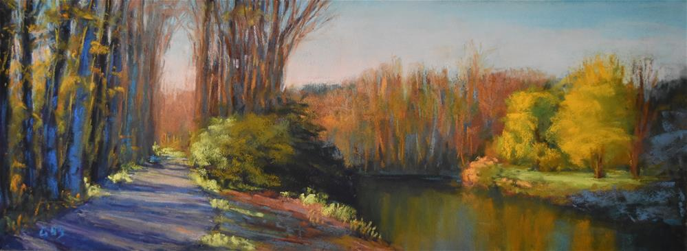 """Bothell Landing in the fall"" original fine art by Alejandra Gos"