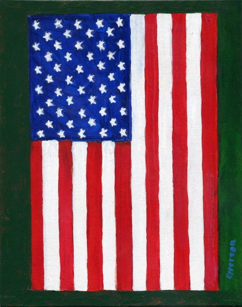 """My Flag"" original fine art by Stanley Epperson"
