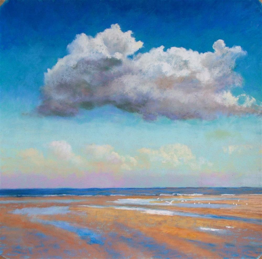 """Seagull Beach"" original fine art by Christine Derrick"