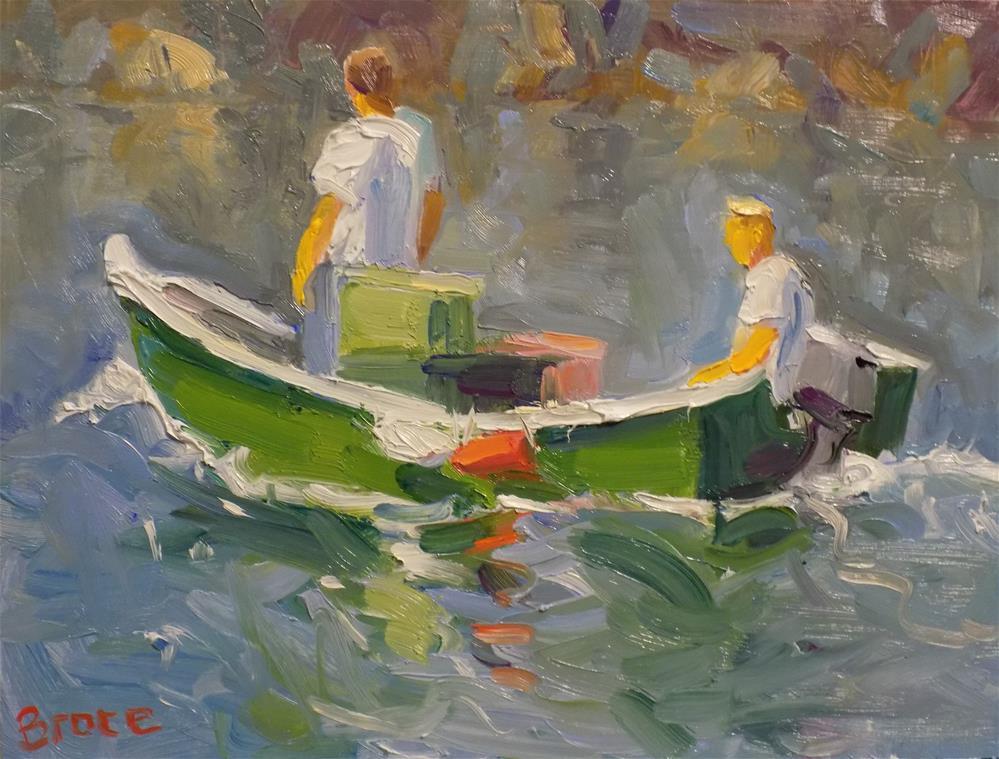 """""""Good Catch"""" original fine art by Rita Brace"""