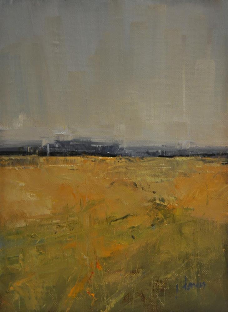 """""""Fall Field"""" original fine art by Julie Davis"""