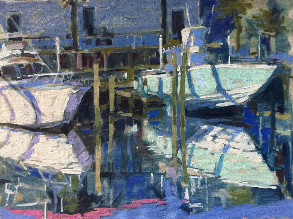 """Early morning light at the Marina"" original fine art by Haidee-Jo Summers"