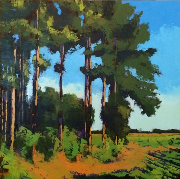 """Minervaville, Summer Pines"" original fine art by Mary Gilkerson"