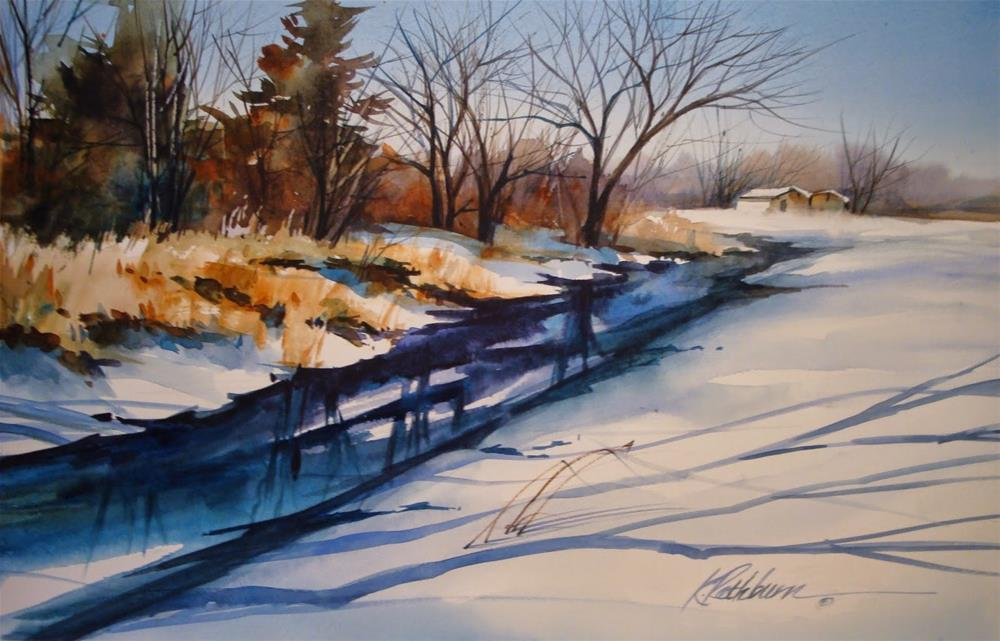 """Just a Creek"" original fine art by Kathy Los-Rathburn"