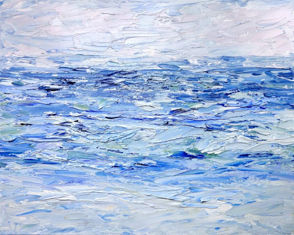"""6023 - Ocean Blue"" original fine art by Sea Dean"