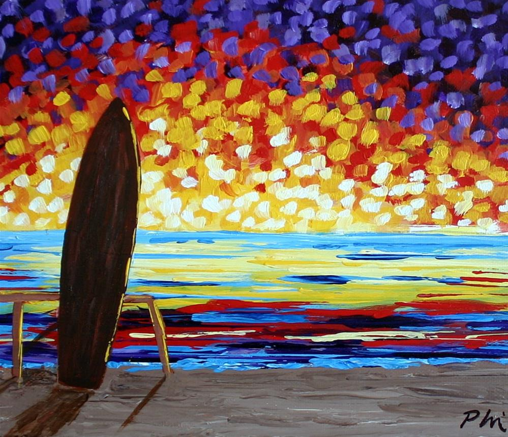 """NITE SURF"" original fine art by Bob Phillips"