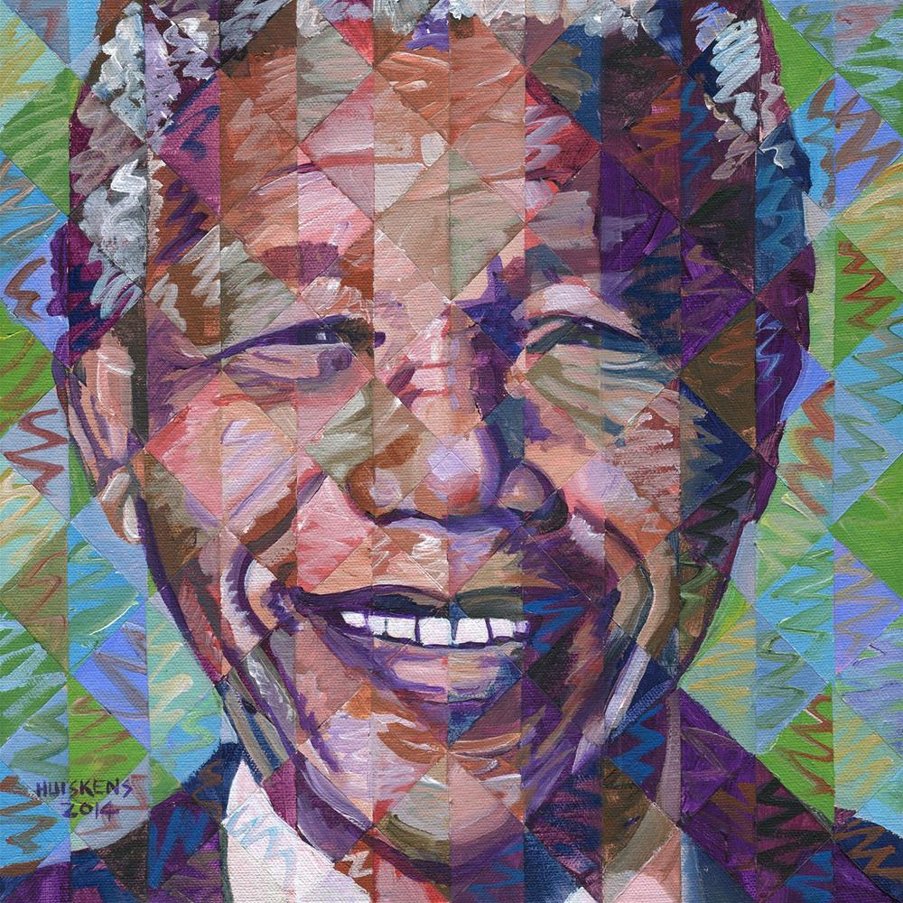"""Nelson Mandela #2"" original fine art by Randal Huiskens"