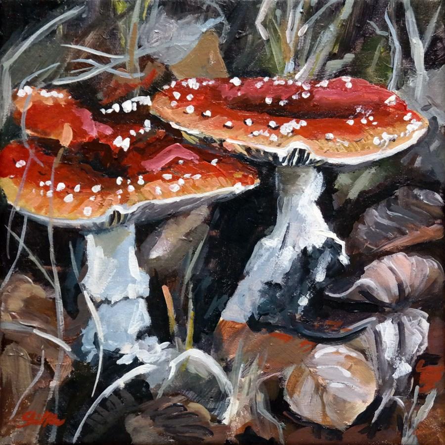 """1553 Poisonous Mushroom"" original fine art by Dietmar Stiller"