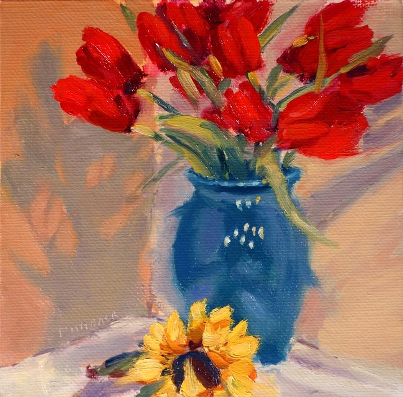 """Red Tullips"" original fine art by Daniel Fishback"