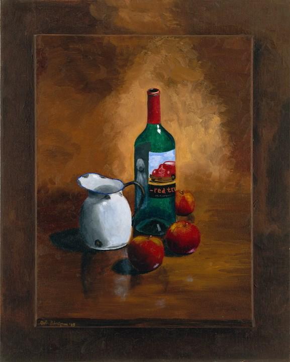 """Red Truck"" original fine art by Bob Blackmon"