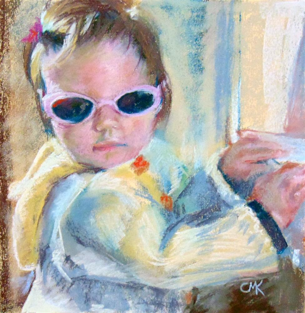 """Pink Sunglasses"" original fine art by Catherine Kauffman"