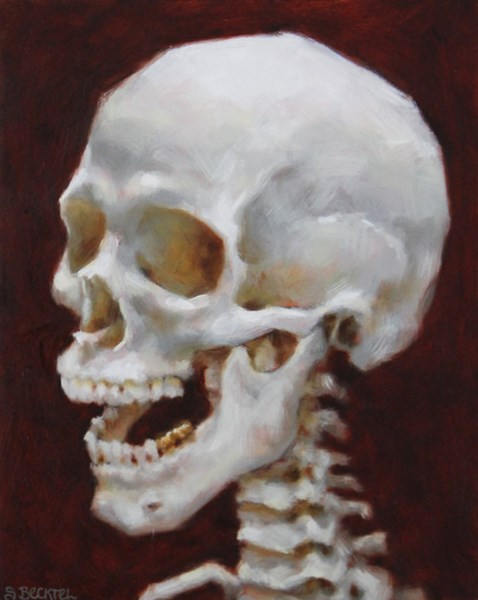 """Laughing Skull Study"" original fine art by Sarah Becktel"