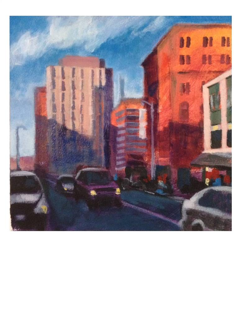 """Congress Street"" original fine art by Suzanne Woodward"