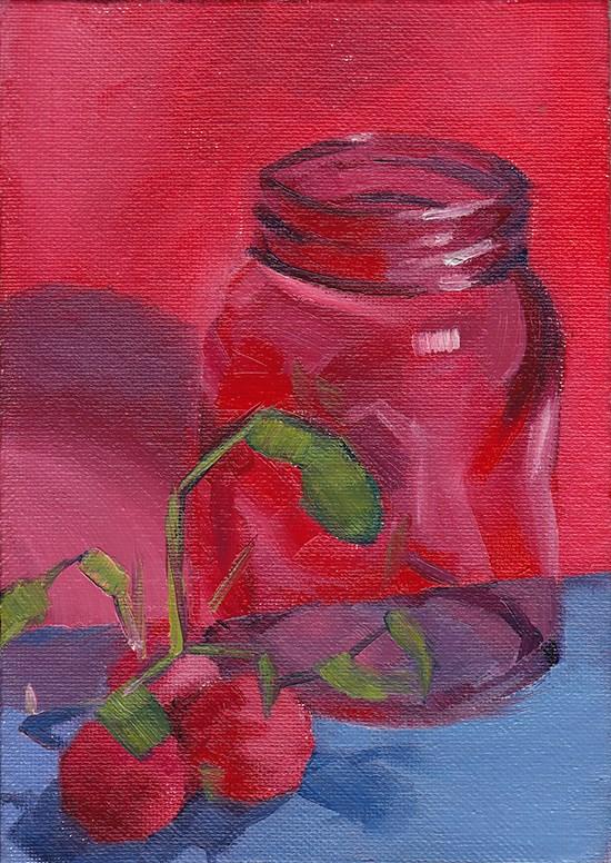 """Finding Purple"" original fine art by J M Needham"