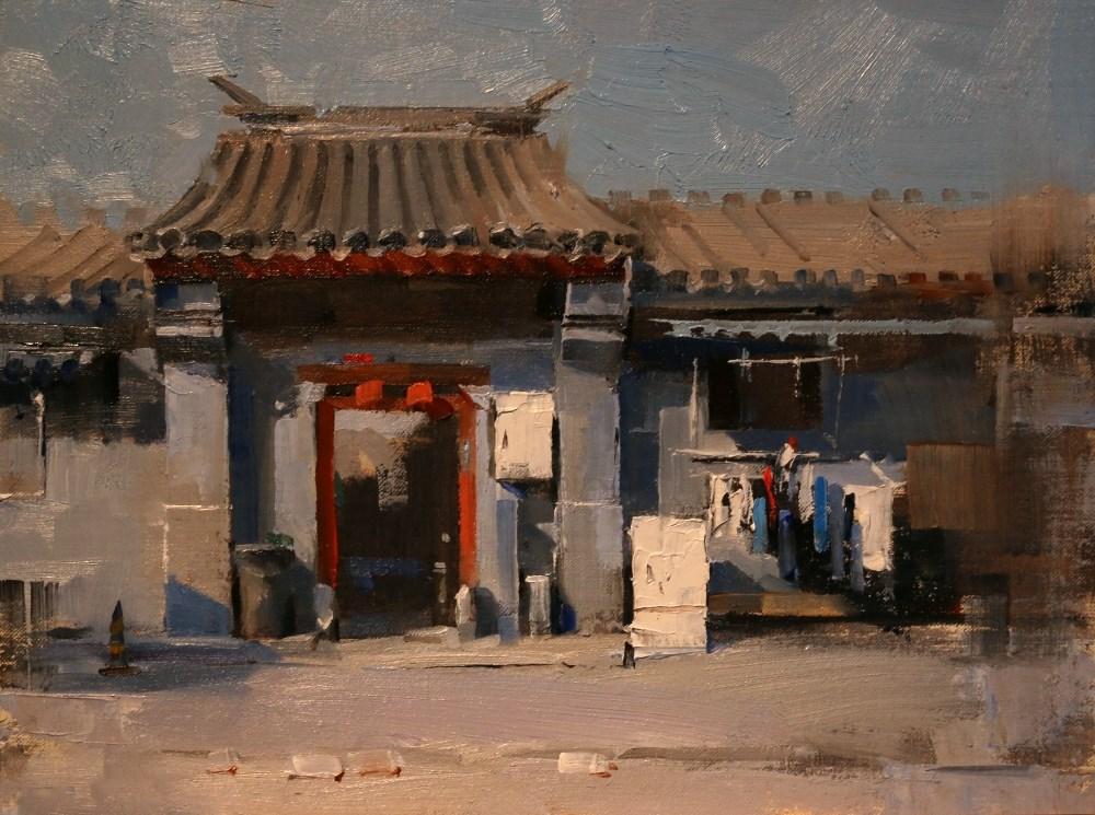 """""""Beijing Hutong 2014 2"""" original fine art by Qiang Huang"""