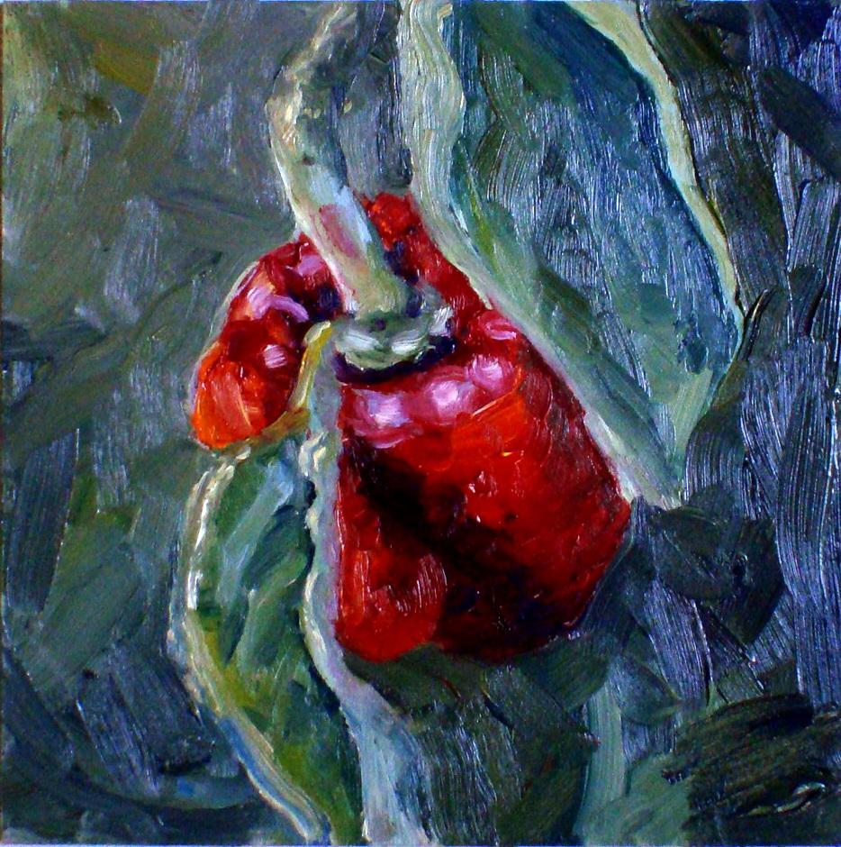 """""""Hiding pepper"""" original fine art by Kristen Dukat"""