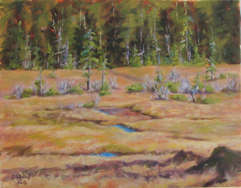 """Eagle Crest Meadows"" original fine art by Christine Lewis"