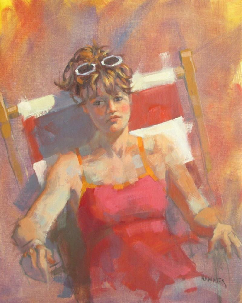 """Sunning #2  20 x 16  oil"" original fine art by Claudia Hammer"
