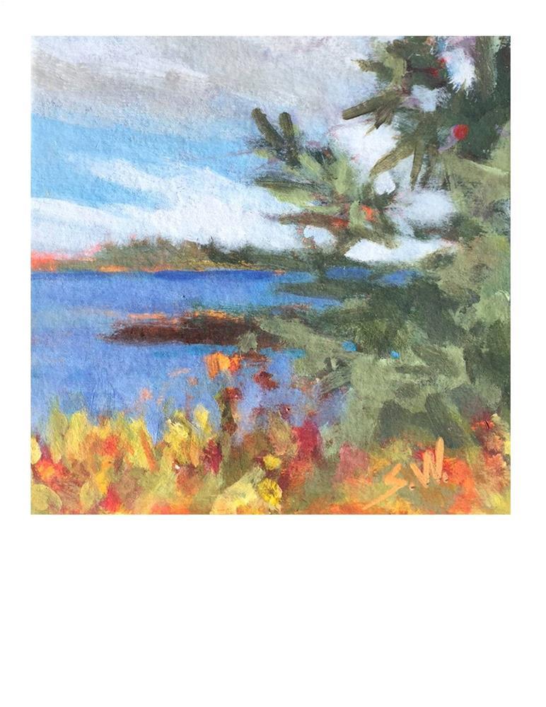 """Blue And Orange"" original fine art by Suzanne Woodward"