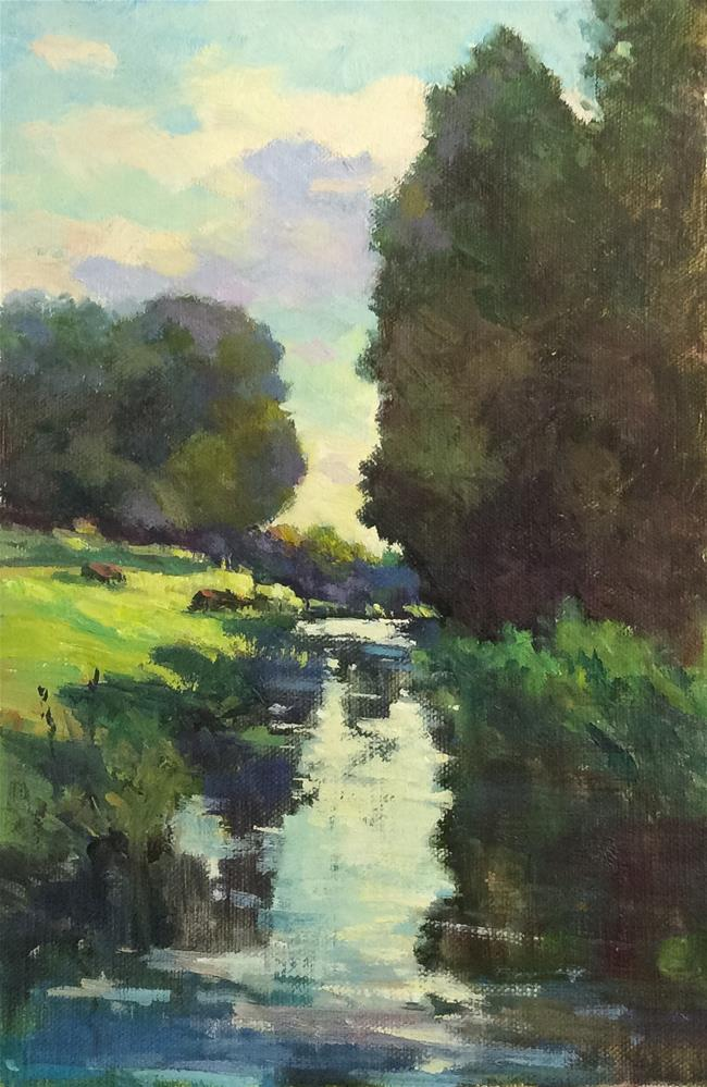 """Down The River"" original fine art by John Shave"