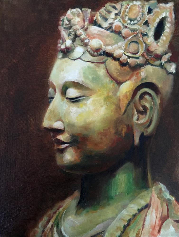 """""""Peace"""" original fine art by Joy Cai"""