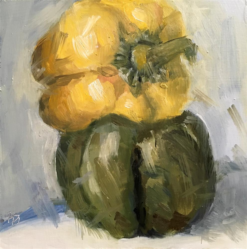 """095 Agressive Peppers"" original fine art by Fred Bell"