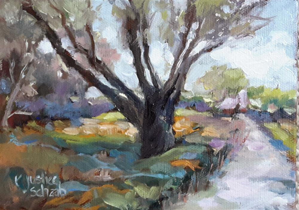 """Reaching Tree"" original fine art by Rebecca Justice-Schaab"