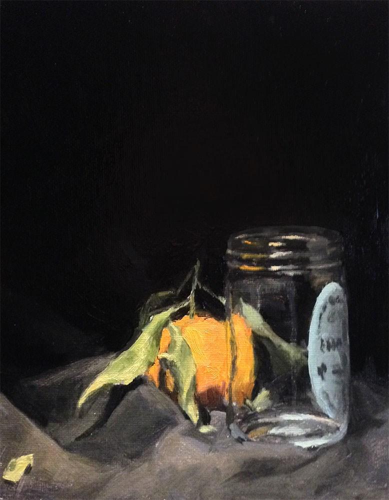"""Satsuma Behind Jar"" original fine art by Chris Beaven"