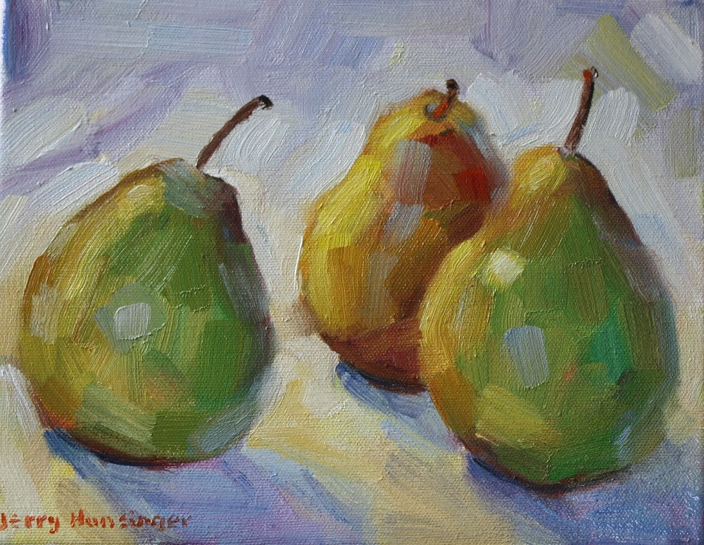 """Pear Study"" original fine art by jerry hunsinger"