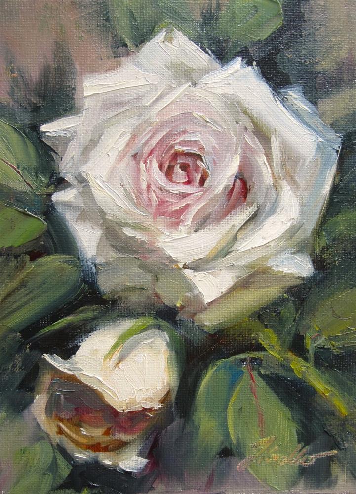 """""""Rose Study #3"""" original fine art by Pat Fiorello"""