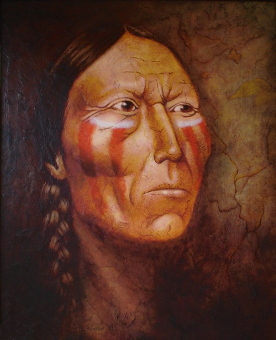"""Spirit Brave"" original fine art by Karen Roncari"