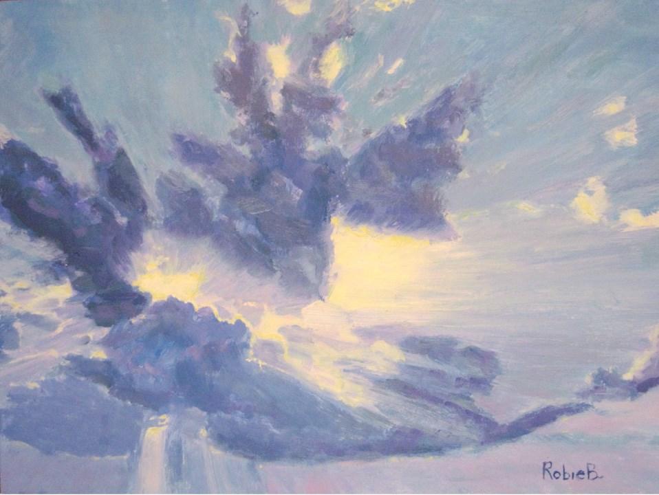 """Enlightened, Study"" original fine art by Robie Benve"