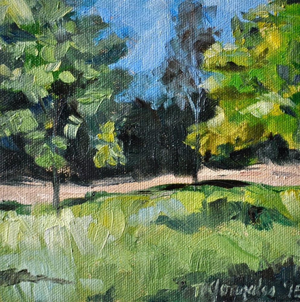 """Greens and Blues"" original fine art by Theresa Gonzales"
