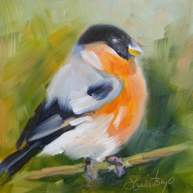 """Pretty Bird - 345"" original fine art by Laura  Buxo"