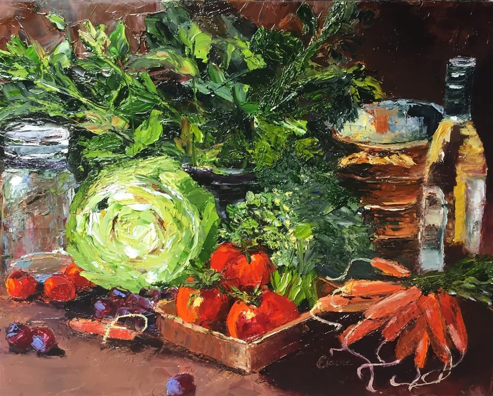 """""""Fresh From the Market"""" original fine art by Elaine Ford"""