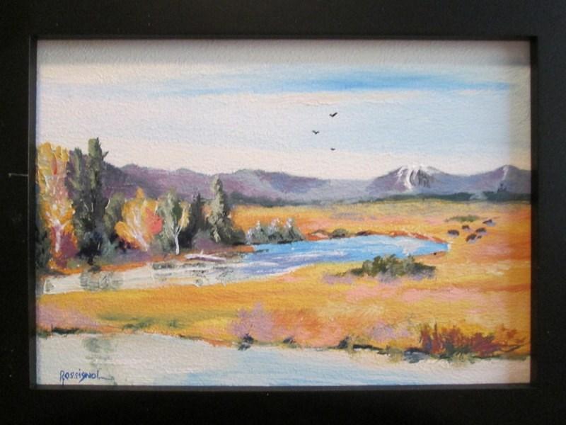 """Open Range"" original fine art by Norm Rossignol"
