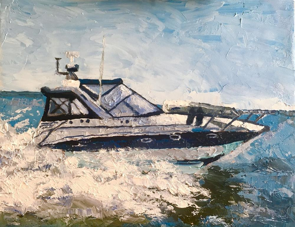 """Speed Boat"" original fine art by Piya Samant"