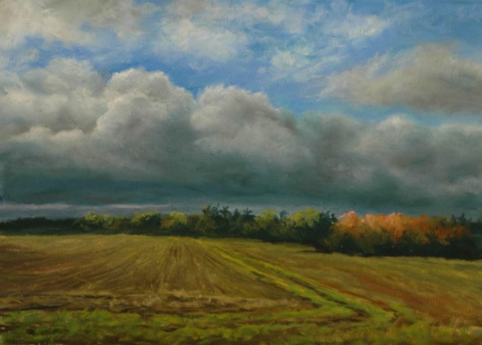"""Late Afternoon Storm"" original fine art by Susan Klabak"