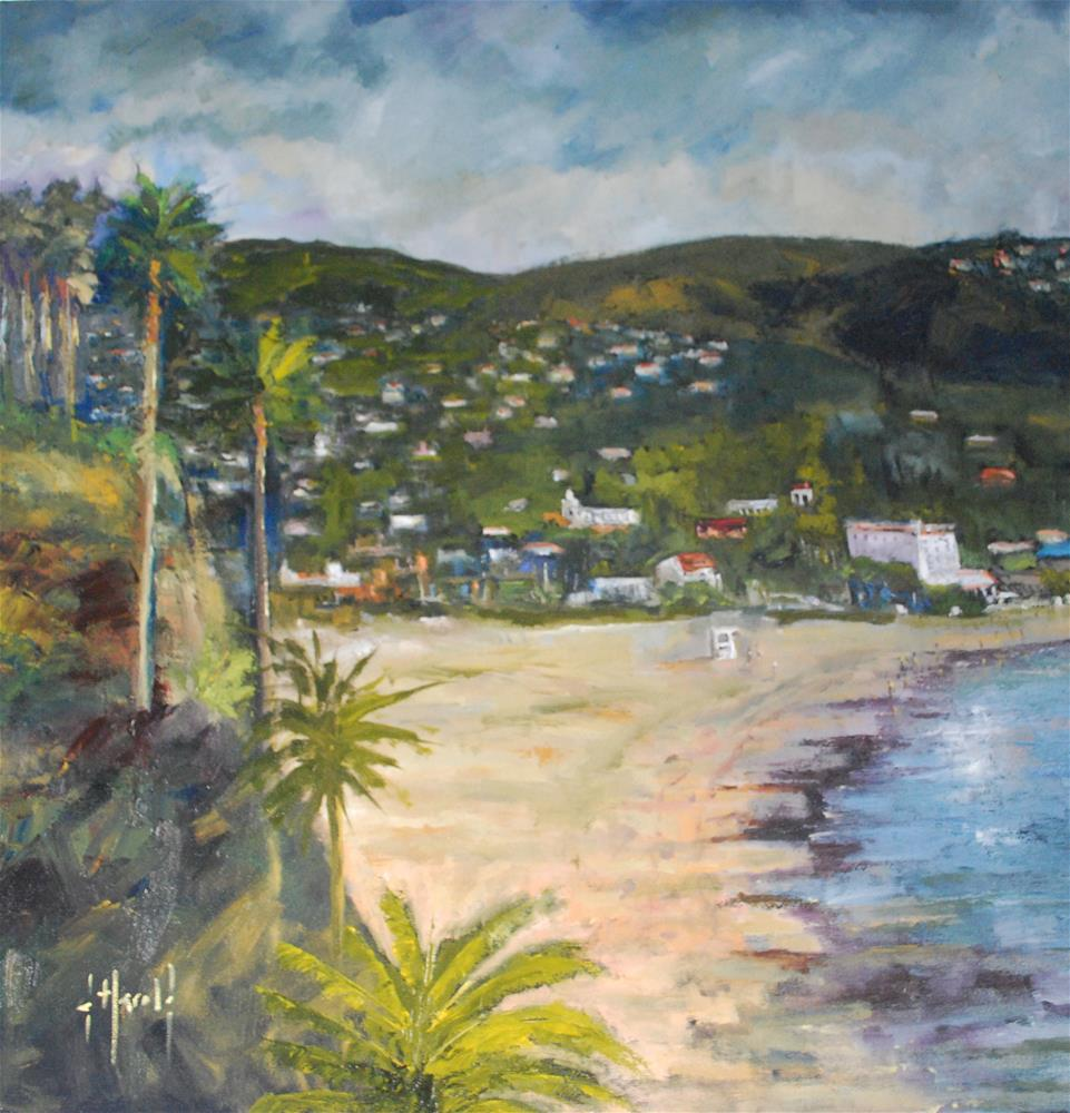 """Hotel Laguna"" original fine art by Deborah Harold"