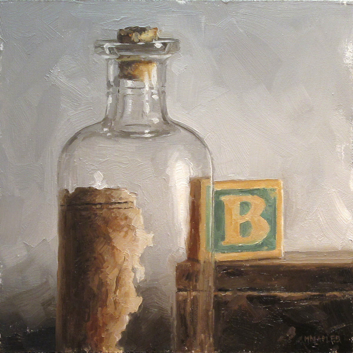 """B is for Bottle"" original fine art by Michael Naples"
