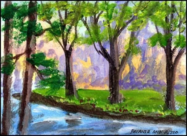 """""""After the Rain"""" original fine art by Patricia Ann Rizzo"""