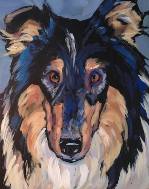 """Long Nose Wisdom"" original fine art by Kat Corrigan"
