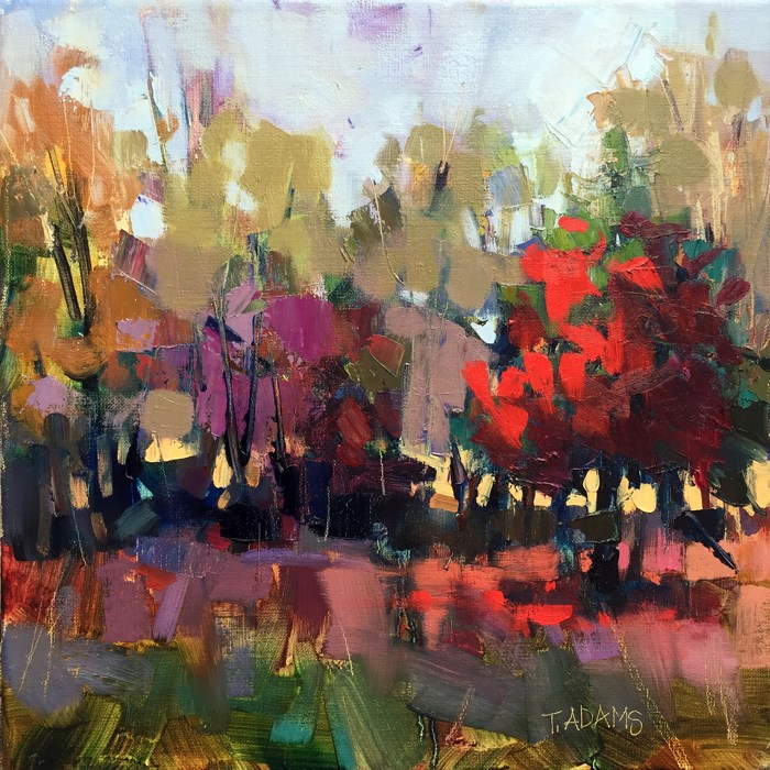 """Fall Reds"" original fine art by Trisha Adams"