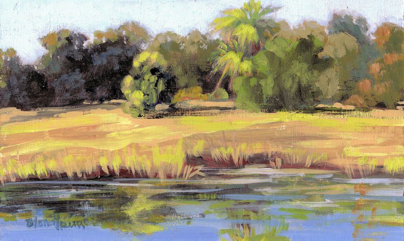 """Pond"" original fine art by Linda Blondheim"
