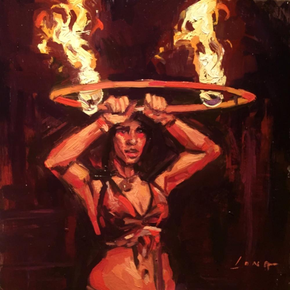 """Fire Dance"" original fine art by Chris Long"