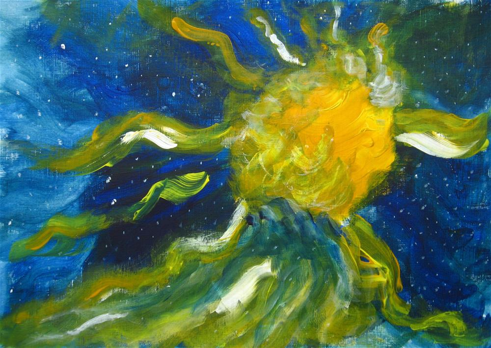 """Running Sun"" original fine art by Alina Frent"