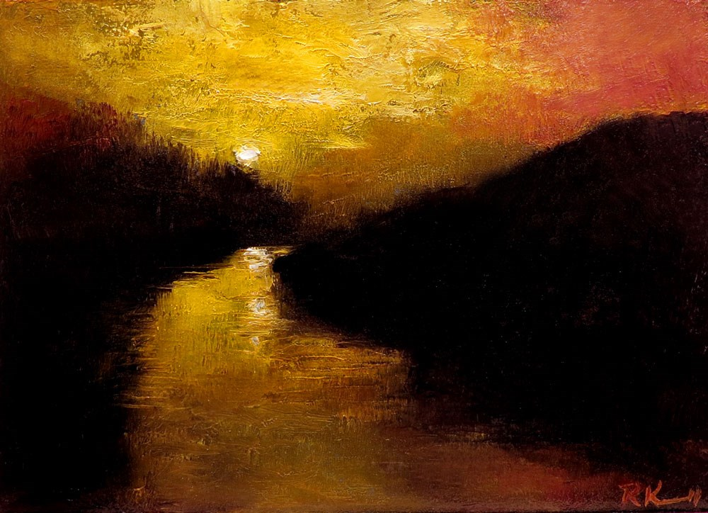 """Virgin River Sunset"" original fine art by Bob Kimball"